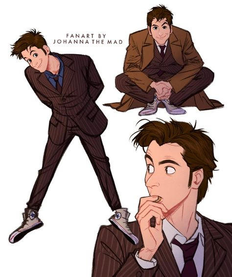 Ten fan art by Johanna the Mad. Doctor Who Poster, Doctor Who Fan Art, Doctor Who 10, Doctor Who Quotes, Donna Doctor Who, Doctor Who Blink, Tenth Doctor, David Tennant, Sherlock