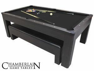 New York Nights 7 Ft Pool Table Set With Benches And Top Pool Table Room Pool Table Modern Pool Table