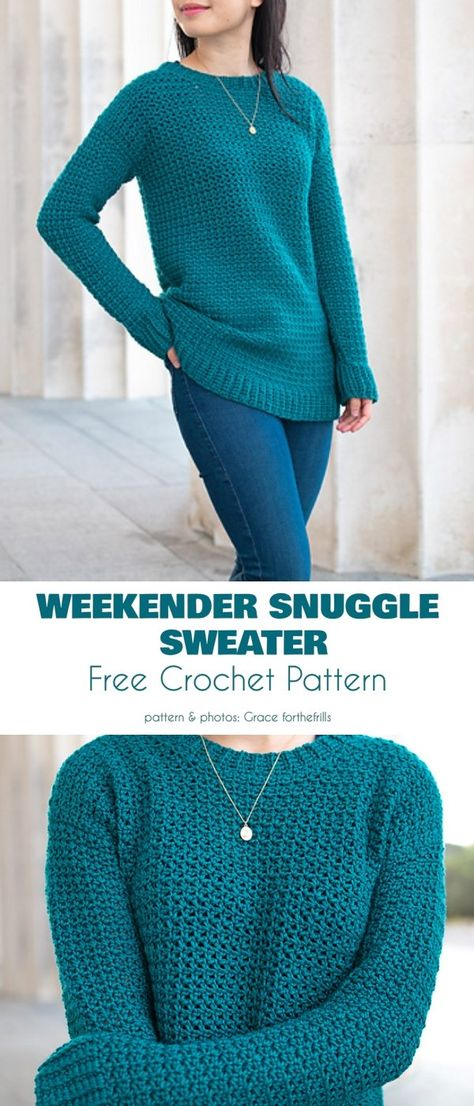 Sweater For Every Occasion Your Crochet , pullover für jeden anlass häkeln , pull pour chaque occasion votre crochet Crochet Baby Sweater Pattern, Crochet Tunic, Crochet Geek, Crochet Woman, Easy Crochet, Crochet Clothes, Crochet Sweaters, Crochet Jumpers, Baby Sweaters