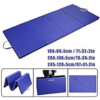 cclife tapis de gymnastique pliable