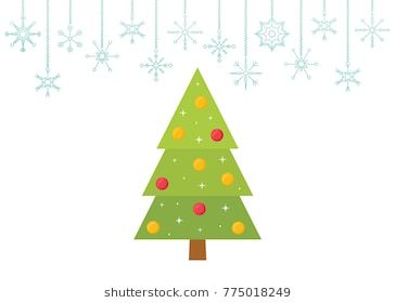 Christmas Tree Vector Illustration Christmas Tree Design Tree Designs Christmas Vectors