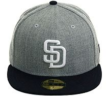 763589629a4 New Era 2Tone San Diego Padres Fitted Hat - Heather Gray