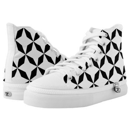 womens Skateboarding Shoes Canvas Black and white abstract pattern Sport Sneaker
