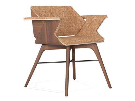 Sedie In Legno Con Braccioli : Nest wings sedia in sughero sediepoltrone legno sedie