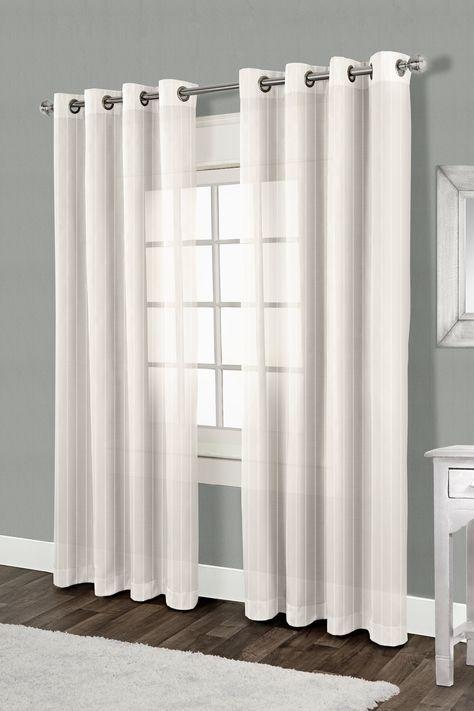 Linen Chest Joyce Semi Sheer Grommet Panel Grommet Panel 54 X