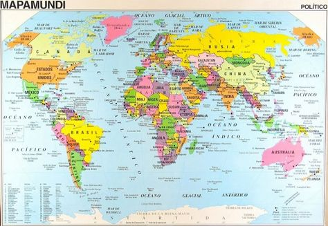 Mapa Mundial Con Nombres Con Imagenes Planisferio Con Nombres