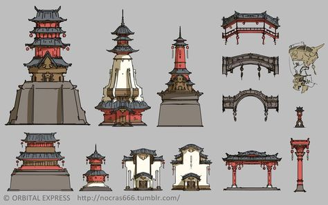 China Architecture, Ancient Chinese Architecture, Architecture Drawings, Futuristic Architecture, Architecture Design, Architecture Office, Japanese Shrine, Japanese House, Environment Concept Art