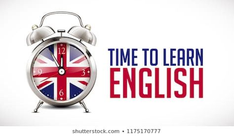 Time to Learn English Stock Vectors, Images & Vector Art