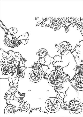 Franklin S Friend Ask Him To Bicycle Coloring Page Supercoloring Birthday Coloring Pages Coloring Pages Bike Print