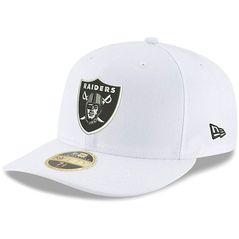 cc310790cbabdf Oakland Raiders New Era Omaha Low Profile 59FIFTY Fitted Hat - White  #OaklandRaiders