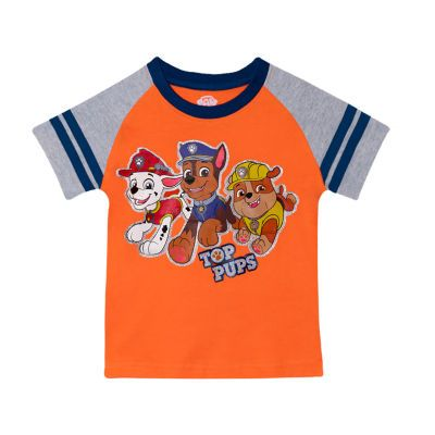 Toddler Boys Round Neck Paw Patrol Short Sleeve Graphic T Shirt Cool Kids Clothes Toddler Boys T Shirt