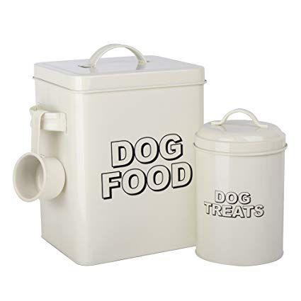 Crazygadget Vintage Classic Retro Dog Food Treats Storage