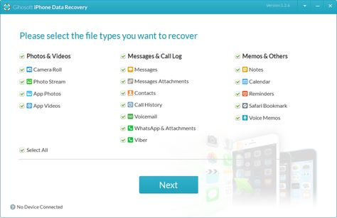 Iphone Data Recovery Data Recovery Recover Photos Message Call