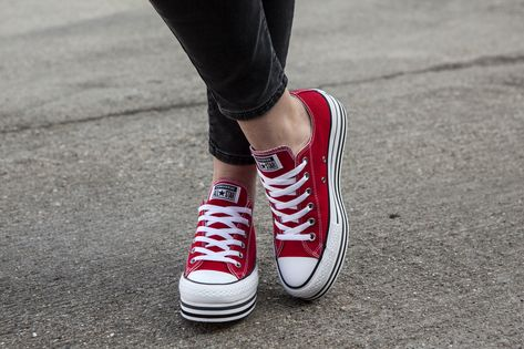 Converse Chuck Taylor All Star Rood Dames | Converse chuck ...