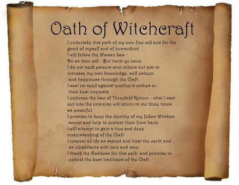 Oath of Witchcraft