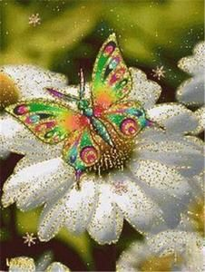 DIY Diamond Painting Butterfly And Flower 5D Full Square Rhinestone Diamond Embroidery  Mosaic