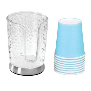 Mdesign Disposable Paper Cup Dispenser Holder For Bathroom