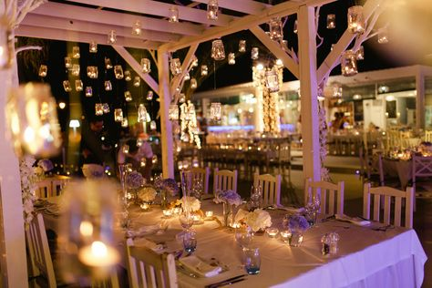 Fairy Light Wedding Reception Casa De Lago