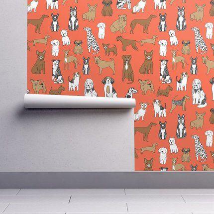Peel Stick Wallpaper Picks For Kids Rooms Emily A Clark Dog Wallpaper Peel And Stick Wallpaper Wallpaper