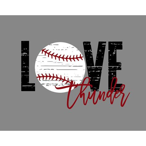 Download Love Thunder Distressed Baseball SVG This is an INSTANT ...