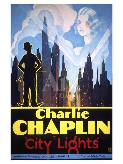 MOVIE DRAMA ART FILM POSTER # 21 1931 CHARLIE CHAPLIN CITY LIGHTS A3//A4 Size