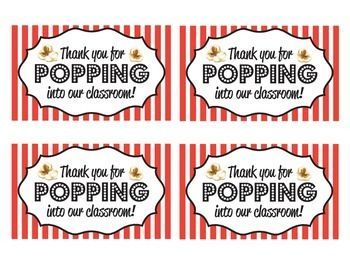 Print And Tape Printable Onto Popcorn Bags For A Meet The Teacher