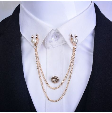Collar Chain, Collar Clips, Gold Rings Jewelry, Jewelery, Male Jewelry, Chain Jewelry, Fashion Jewelry, Brooch Men, Royal Clothing