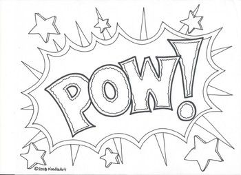 Pow Bam Crash Zap These Fun Hand Drawn Coloring Pages Will Put Action Into Any Cartoon Love Coloring Pages Superhero Coloring Pages Coloring Pages