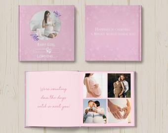 Baby Album Photoshop Template Baby Photo Album Newborn Photo Album For Photographers Baby First Year Photobook Template For Photoshop In 2020 Baby Fotoalbum Fotobuch Gestalten Photoshop