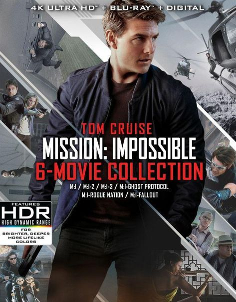 Mission: Impossible - 6 Movie Collection [Includes Digital Copy] [4K Ultra HD Blu-ray/Blu-ray]