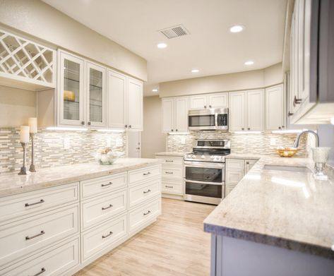 Home Cabinet Westbury H9 Style Pearl Maple Glazed Kitchen With Built In Wine Rack Glazed Kitchen Cabinets Custom Kitchen Cabinets Built In Wine Rack