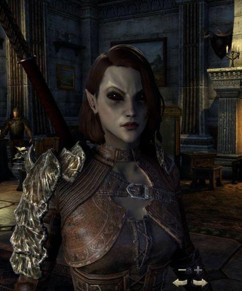 Female Dunmer Character Portraits Dark Elf Skyrim Elf