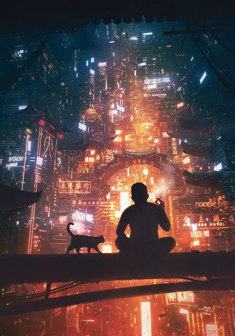 Digital Painting Inspiration Vol. 32 - Digital Painting Inspiration Vol. Cyberpunk City, Ville Cyberpunk, Cyberpunk Kunst, Cyberpunk Aesthetic, Futuristic City, Futuristic Architecture, Cyberpunk Anime, Asian Architecture, Architecture Wallpaper