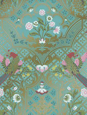 Luxury Wallpaper Designer Wallpaper Online Little Greene In 2020 Victorian Wallpaper Vintage Bird Wallpaper Bird Wallpaper