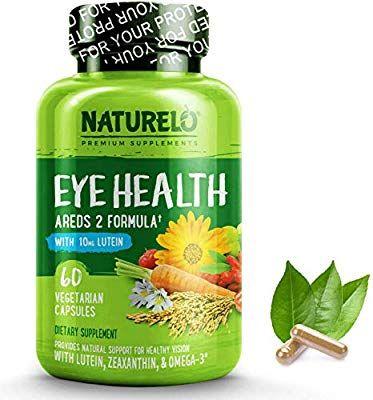 Naturelo Eye Health Vitamins Areds 2 Formula With Lutein Zeaxanthin Natural Vitamin A Zinc Best Supplement Fo Eye Vitamins Eye Health Natural Vitamin C