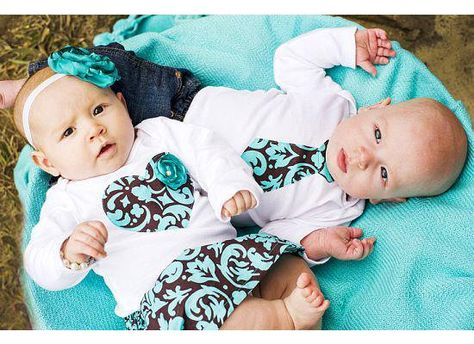 Twins Baby Onesie Set 2 matching