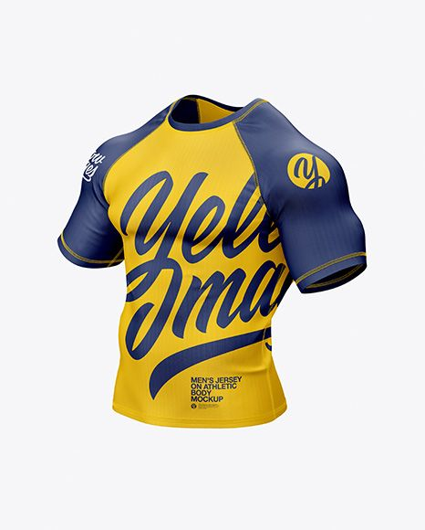 Download Men S Jersey On Athletic Body Mockup In Apparel Mockups On Yellow Images Object Mockups Design Mockup Free Clothing Mockup Mockup
