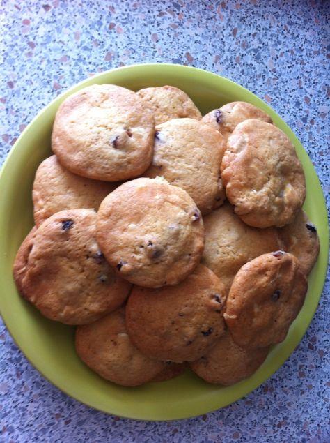 Cookies cranberries/chocolat blanc