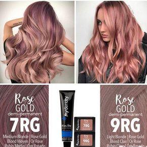 Guy Tang Mydentity 7rg Vs 9rg Hair Color Formulas Hair Color Rose Gold Rose Gold Hair Brunette
