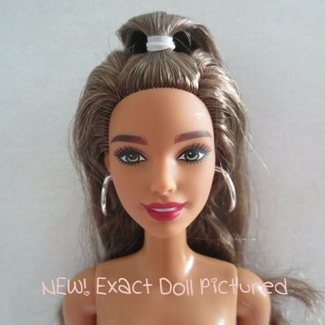 Nude AA Brunette Barbie Inspiring Woman Rosa Parks Articulate Doll to Dress OOAK