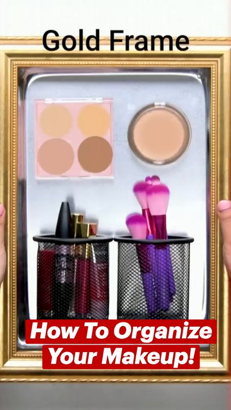 How To Organize Your Makeup!
