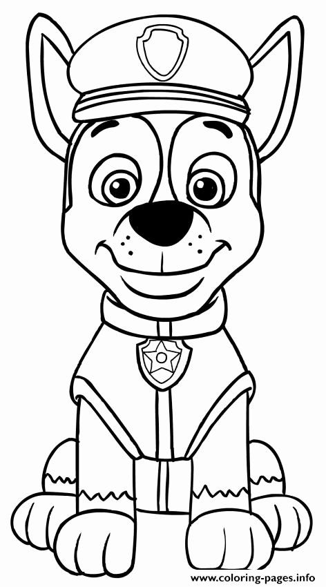 Chase Paw Patrol Coloring Page Inspirational Paw Patrol Chase Coloring Pages Printable Paw Patrol Coloring Paw Patrol Coloring Pages Chase Paw Patrol