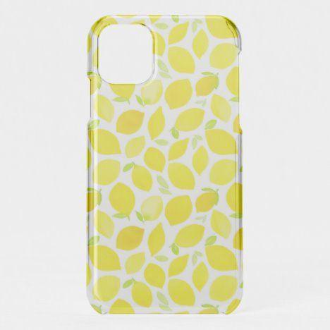Bright pattern of lemons iphone case