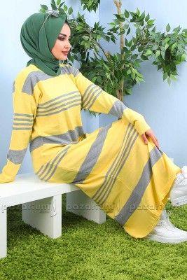Pazarium Com Tr Adli Kullanicinin Tesettur Tunik Modelleri Panosundaki Pin Triko Moda Stilleri Elbise