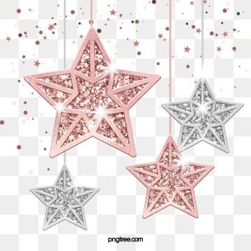 Rose Gold Stars Christmas Ornaments Gold Year Texture Png Transparent Clipart Image And Psd File For Free Download Rose Gold Christmas Rose Gold Red Christmas Ornaments
