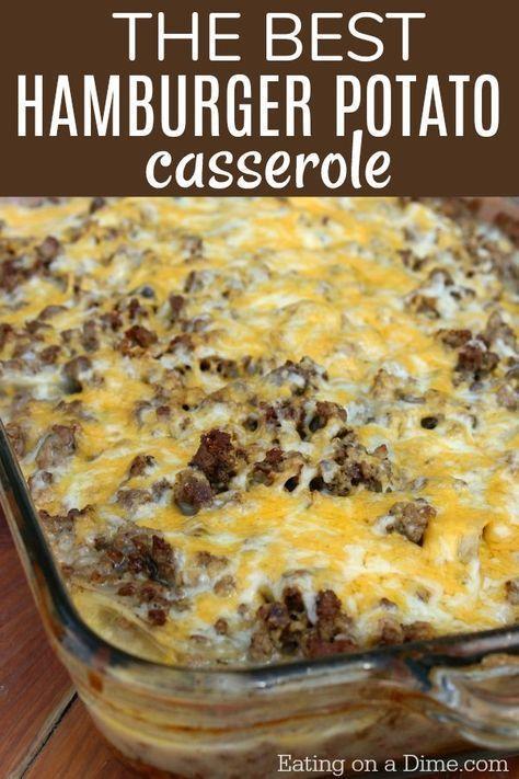 How To Make Hamburger Casserole Easy Recipe Eating On A Dime Recipe Easy Casserole Recipes How To Make Hamburgers Recipes