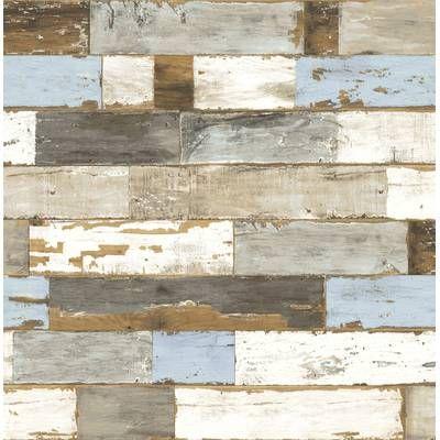 Lesly 18 L X 20 5 W Peel And Stick Wallpaper Roll Peel And Stick Shiplap Peelable Wallpaper Wood Wallpaper