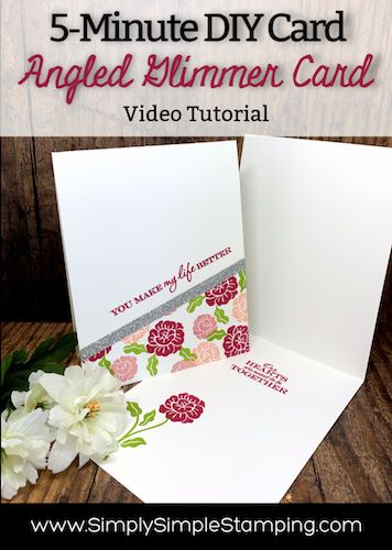 A Glimmery Diy Card You Can Make In Under 5 Minutes Diy Cards Card Tutorials Card Making Videos