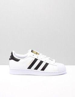 superstar lage sneakers dames Wit C77124 WHITE-BLACK Leer ...