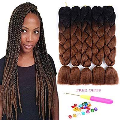 Amazon Com Two Tone Ombre Jumbo Braids Hair Extension 24 5pcs Lot 100g Pc High Temperatu Braided Hairstyles Kanekalon Braiding Hair Braid In Hair Extensions
